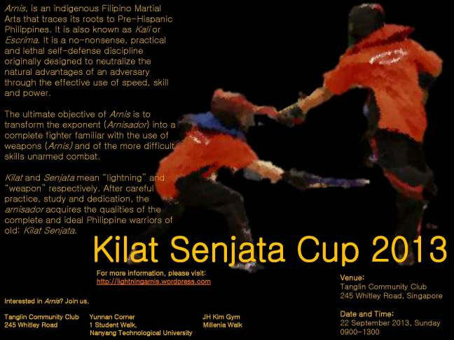 Kilat Senjata Cup 2013 * 22 Sept 2013 * Tanglin Community Club